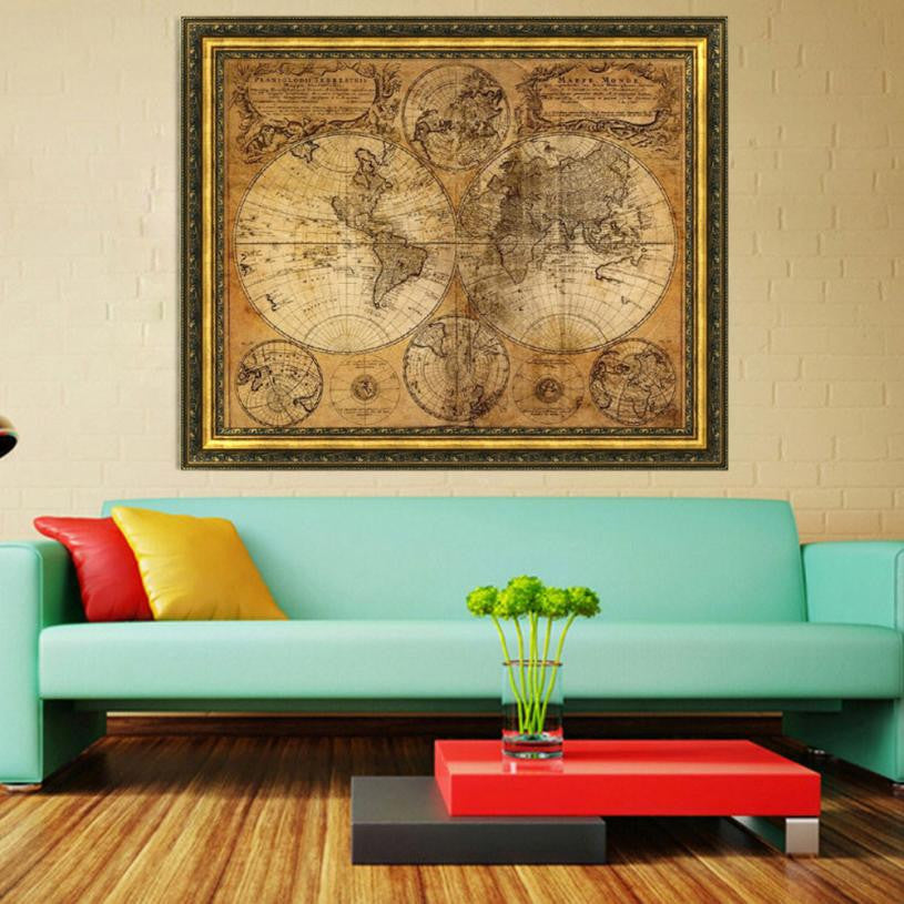 Vintage Style World Map Decal