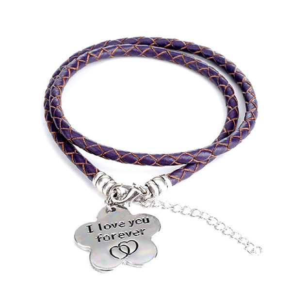 I Love You Forever - Hand Stamped Bracelet