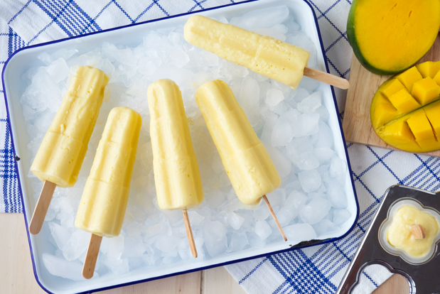 MANGO AND YOGURT POPSICLES