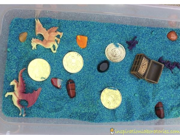 Dragon Treasure Sensory Bin