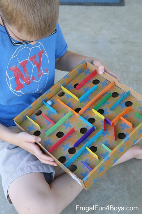 Transform cardboard boxes into something new and fun for your kids!