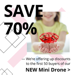 save 70% on new UFO mini drone