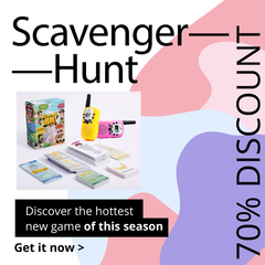 save 70% on new Scavenger Hunt