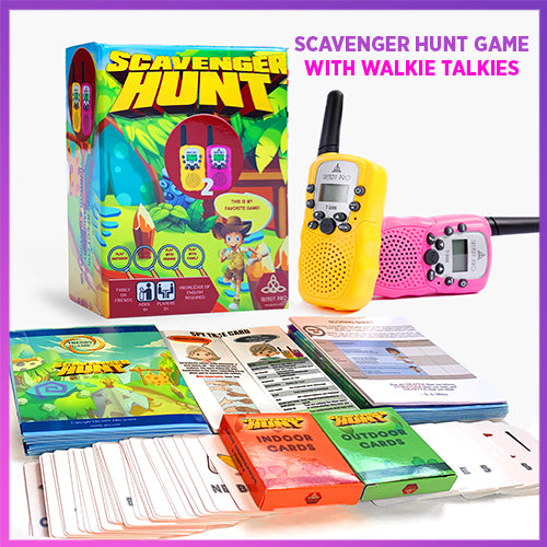 TRENDY PRO SCAVENGER HUNT GAME 2 WALKIE TALKIES, SPY EDITION