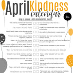 April Kindness Calendar