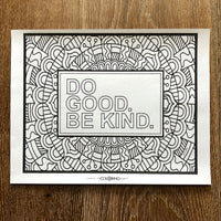 Free Dgbk Coloring Pages Do Good Be Kind