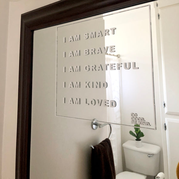 Affirmations Decal