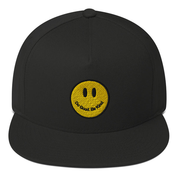 Flat Bill Smiley Logo Cap