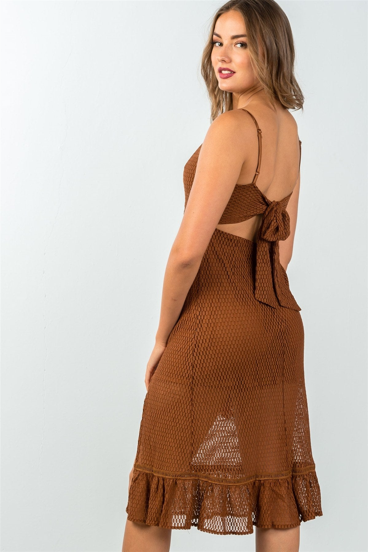 Sandy Mesh Midi Dress - Allures From Zenii