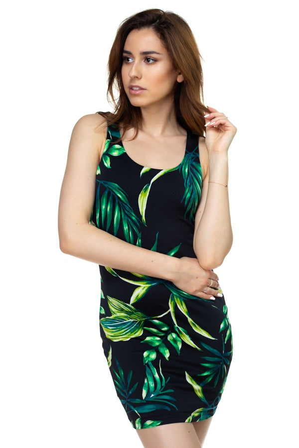 Tropical Palm Dress - Allures From Zenii