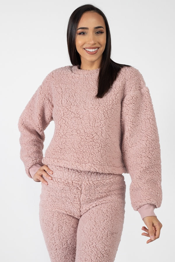 Faux Fur Jogger Set - Allures From Zenii