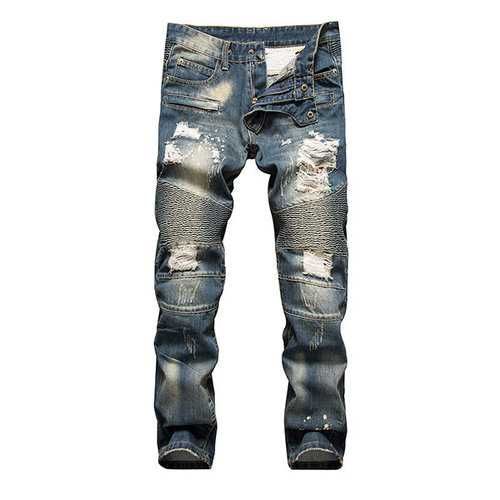 Holes Ripped Washed Jeans - Allures From Zenii
