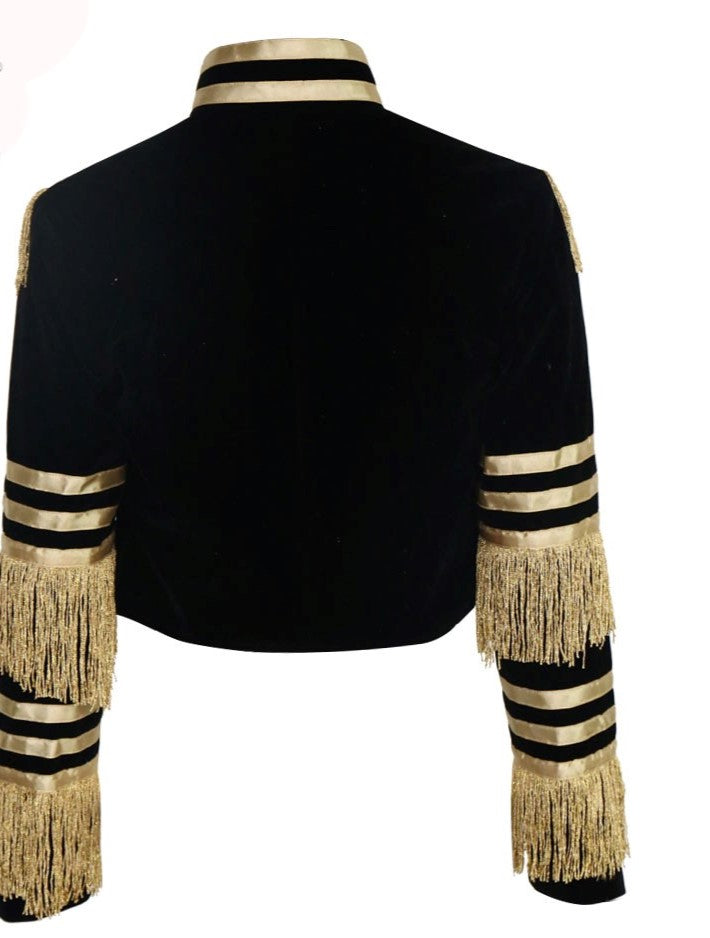 VELVET TASSEL BAND JACKET - Allures From Zenii