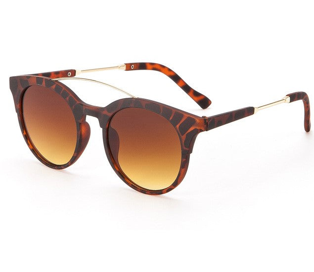 Leopard Round Retro Shades - Allures From Zenii