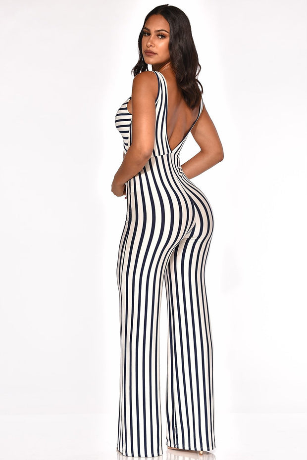 Striped Jumpsuit - Allures From Zenii