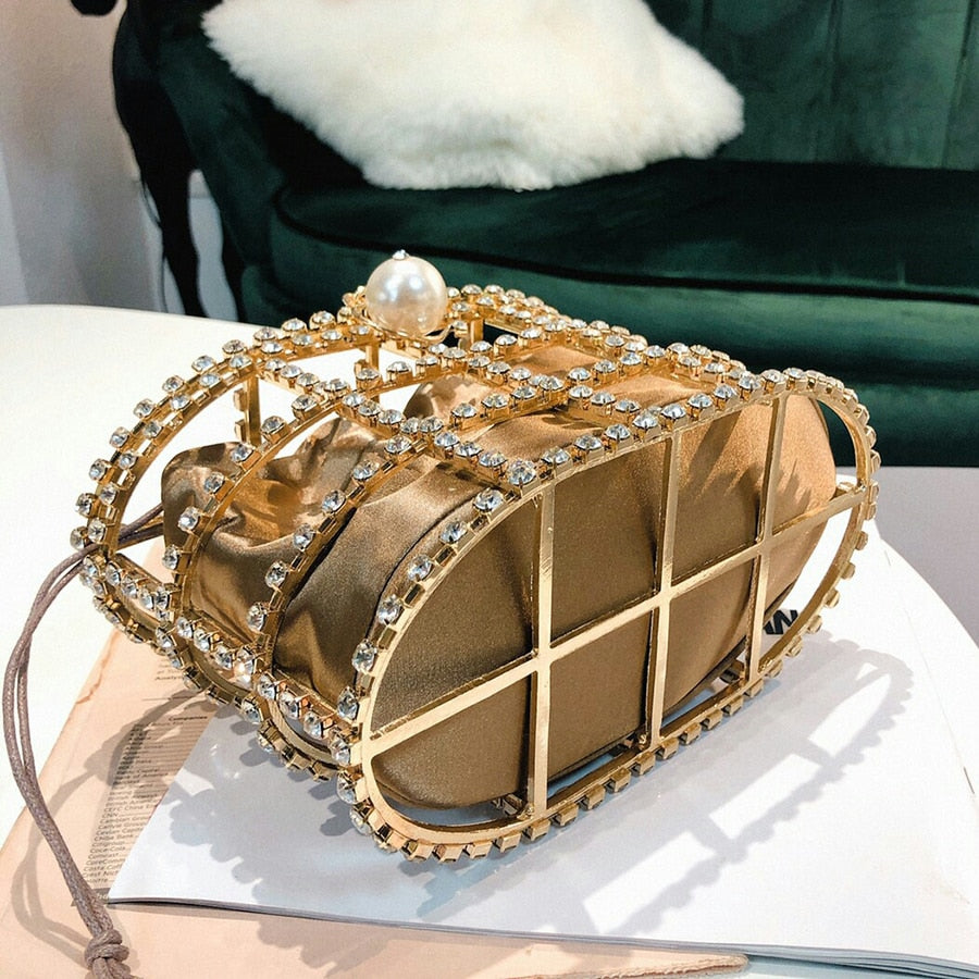 Pearl Basket Clutch Bag - Allures From Zenii