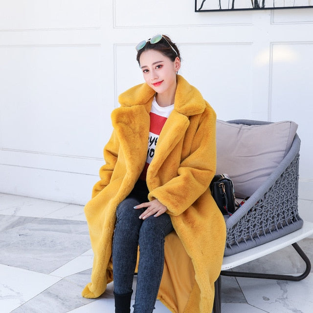 Fluffy Furry Faux Fur Coat - Allures From Zenii