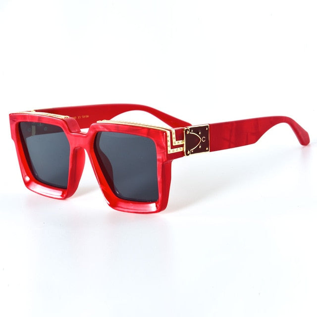 Red Chrome Plated | Square Glasses - Allures From Zenii