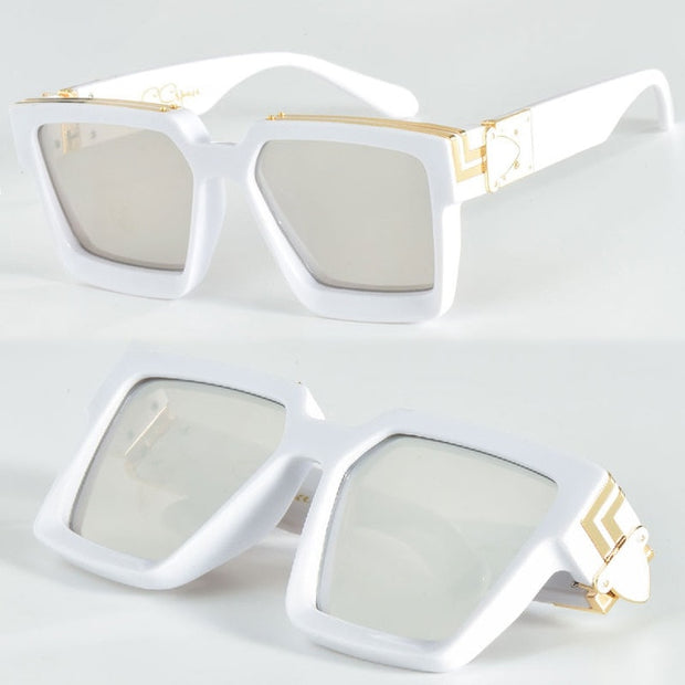 Square Luxury White | Sunglasses - Allures From Zenii