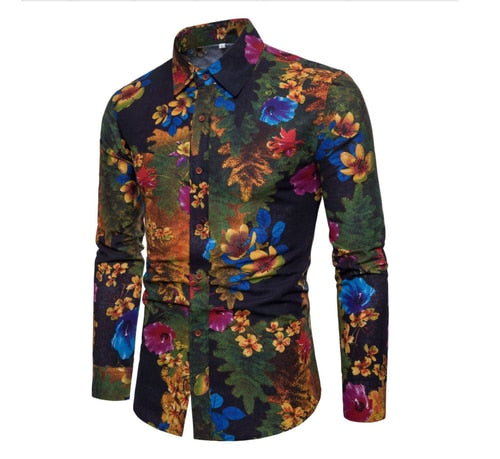 Jericho Floral Mens Shirt - Allures From Zenii
