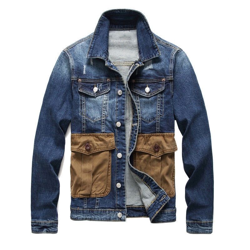 Men's Military Jean Jacket - Allures From Zenii
