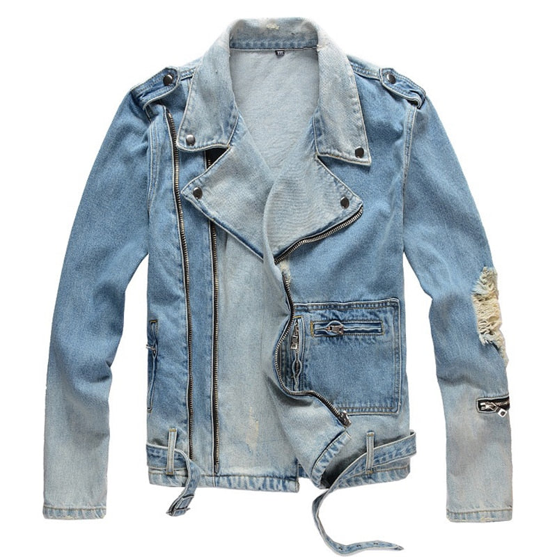 What About Us | Biker Denim Jacket - Allures From Zenii