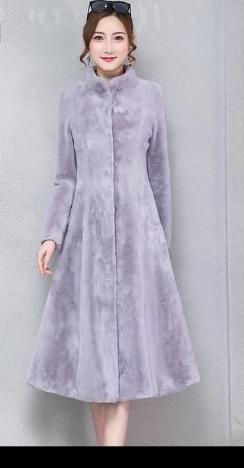 Fluffy Vegan Rabbit Fur Coat - Allures From Zenii