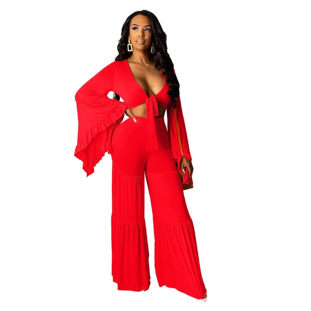 Maria Bell | Red Two Piece Set - Allures From Zenii