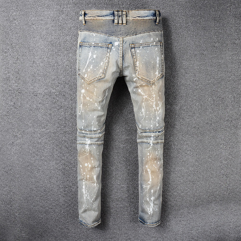 Vintage Painted Denim
