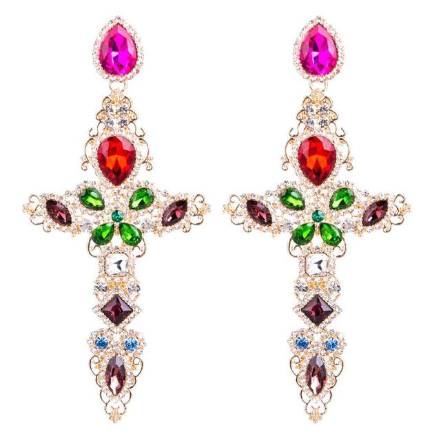 Lady Baroque Cross Earrings - Allures From Zenii