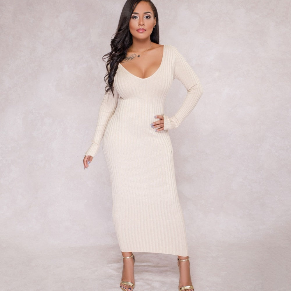 Rebecca Ribbed Dress - Allures From Zenii