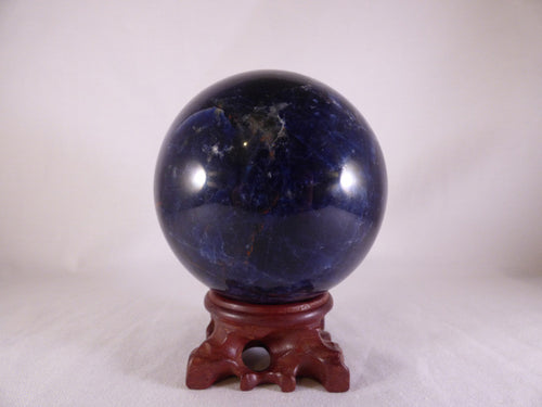 'AA' Grade Large Namibian Superblue Sodalite Sphere - 85mm, 760g
