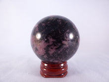 Madagascan Pink Rhodonite Sphere - 50mm, 222g