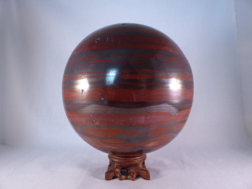 XL Mugglestone Tiger Iron 'Jupiter Jasper' Sphere - 152mm, 7660g