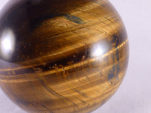 Variegated Blue & Gold Tiger's Eye Sphere - 68mm, 442g