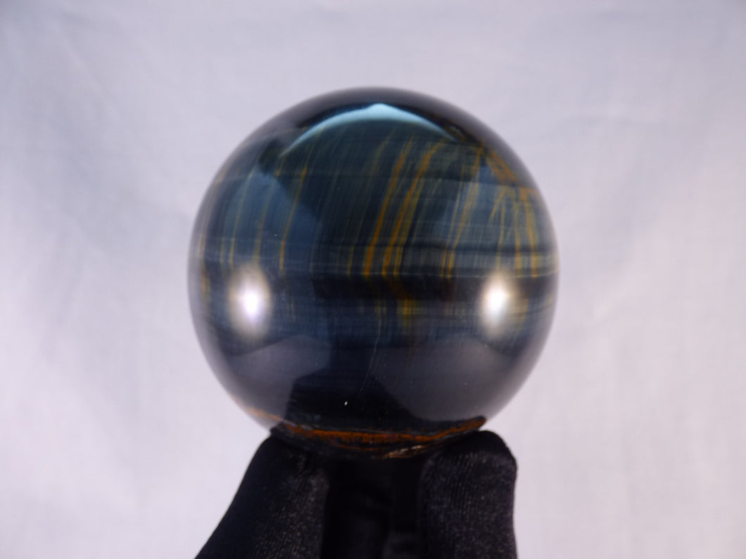 Variegated Blue & Gold Tiger's Eye Sphere - 65mm, 395g