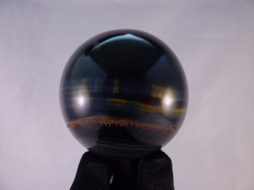 Variegated Blue & Gold Tiger's Eye Sphere - 62mm, 347g