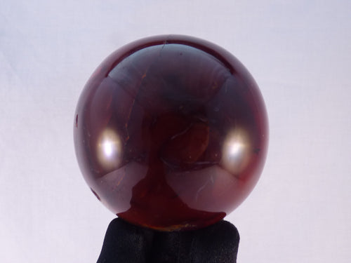 Large Red Madagascan Carnelian sphere - 73mm, 512