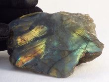 Half Polished Labradorite Piece - 81mm, 128g