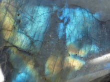 Ice Blue Flash Labradorite Standing Freeform - 97mm, 560g