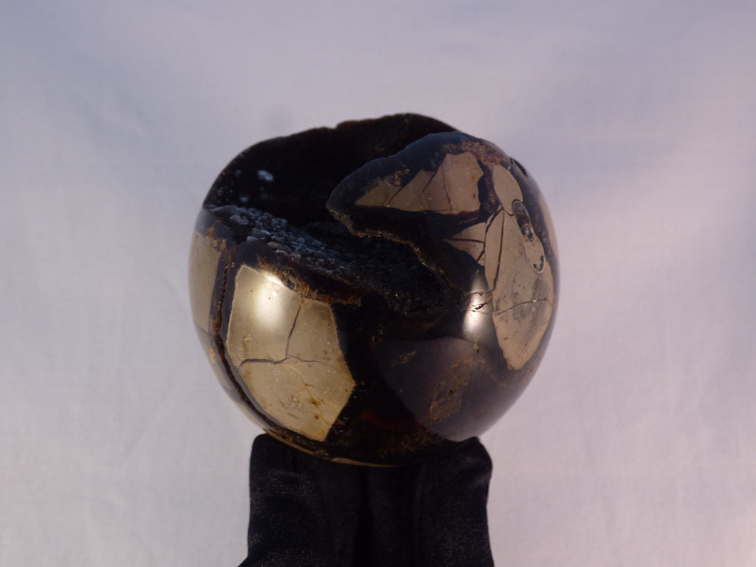 Large 'Sauvage' Calcite Centered Septarian Sphere - 83mm, 630g