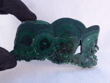 Polished Solid Congo Malachite Slice - 89mm, 109g