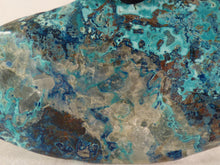 Pastel Blue Congo Shattuckite & Quartz Polished Freeform - 104mm, 142g