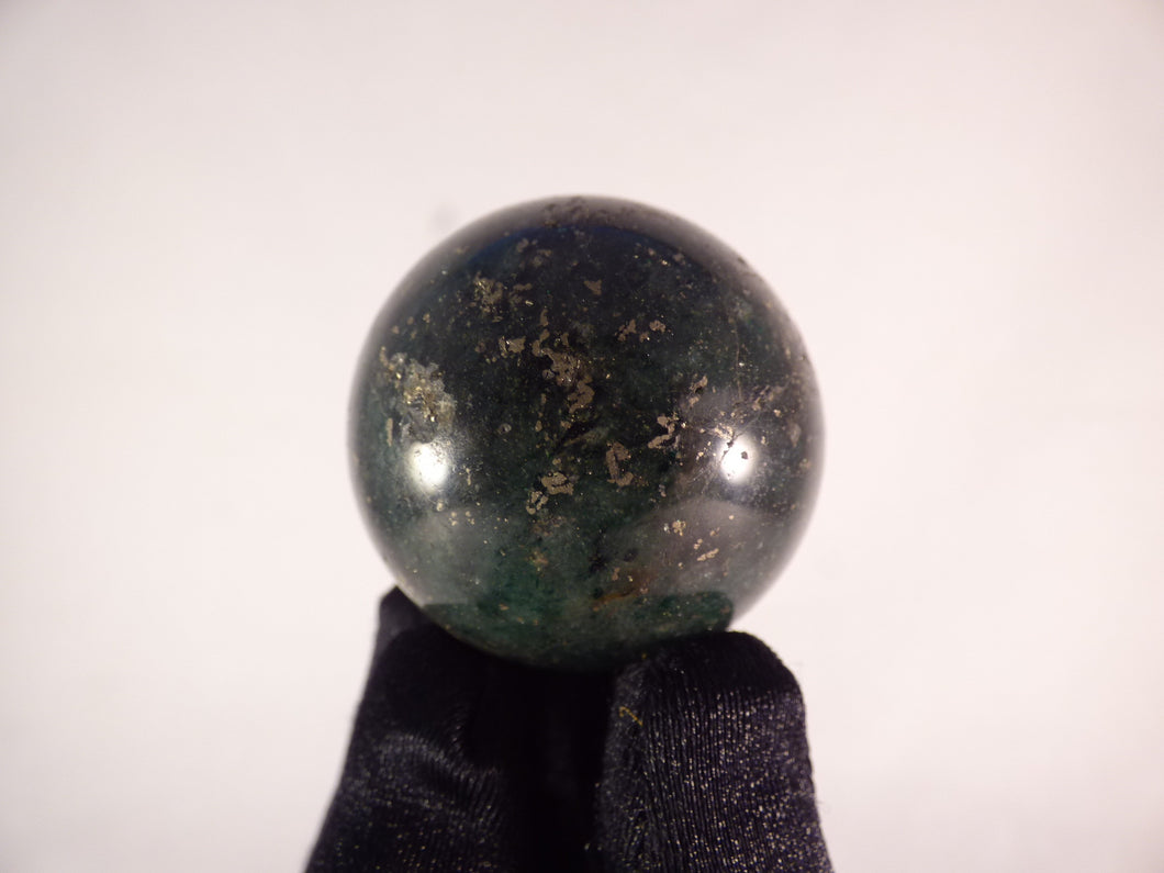 Small Green Fuchsite Sphere - 39mm, 89g