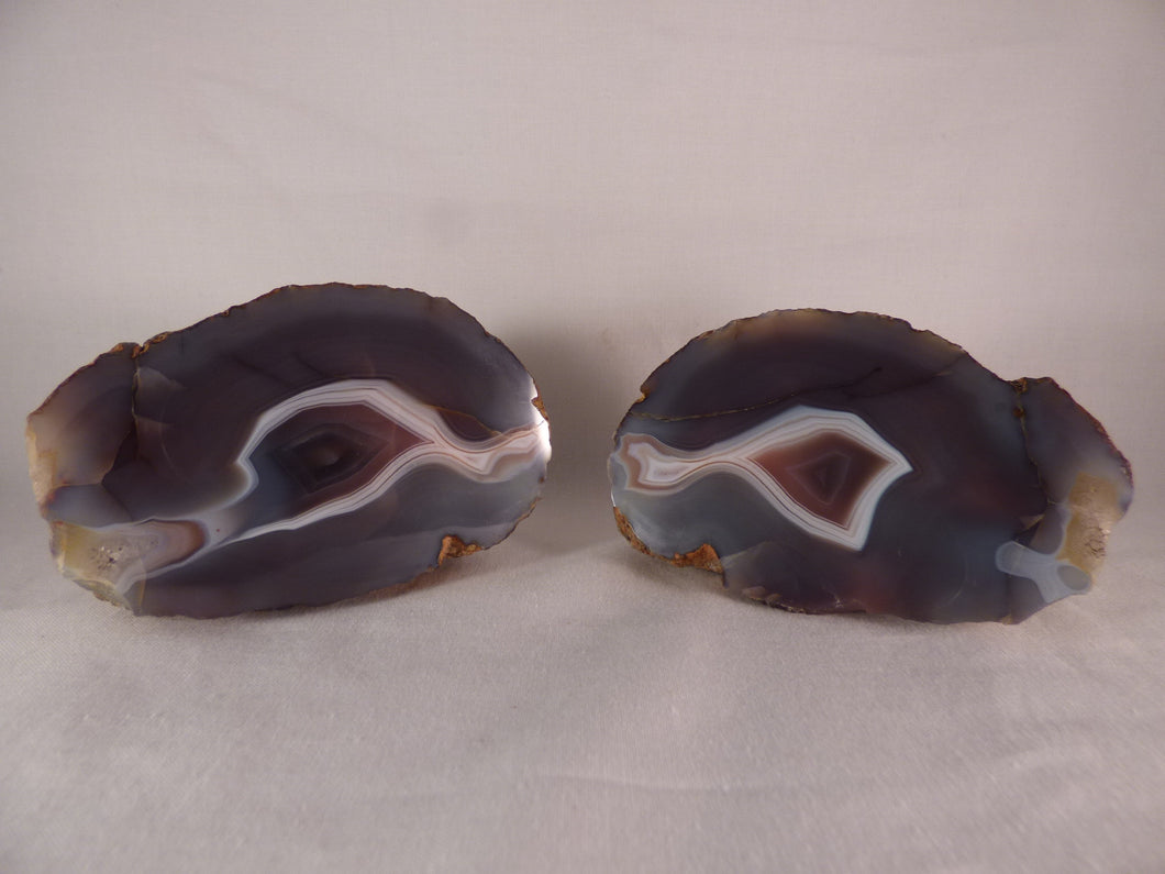 Polished Mozambique Agate Nodules Matching Pair - 726g