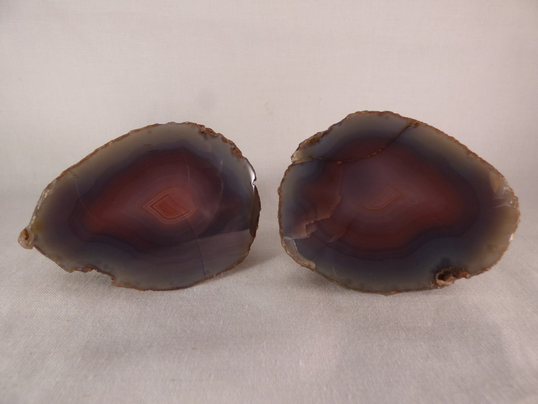 Polished Mozambique Agate Nodules Matching Pair - 447g