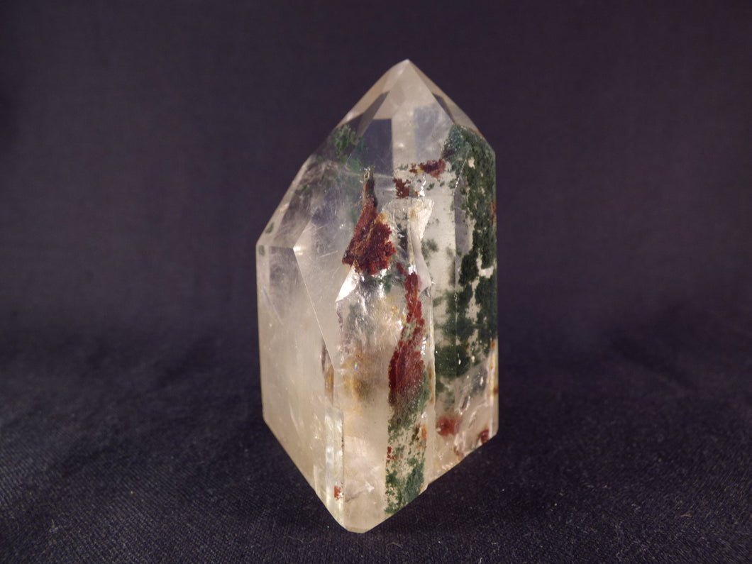 Clear Quartz with Chlorite Polished Standing Point - 71mm, 168g