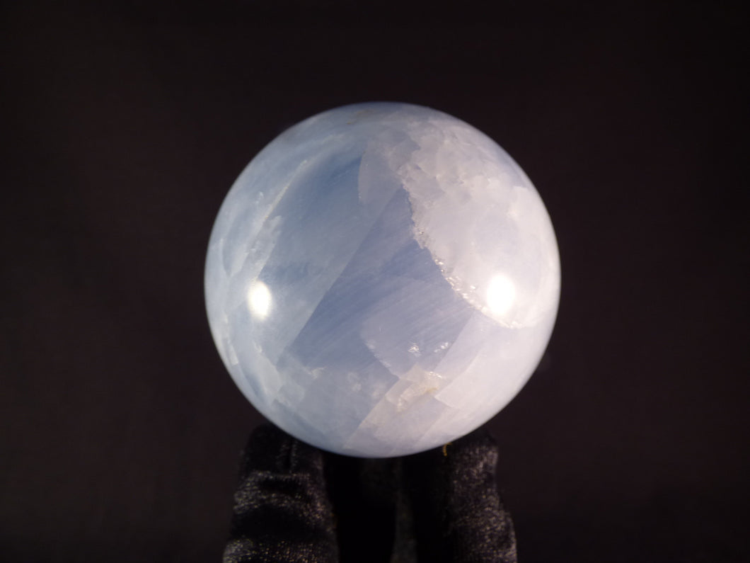Blue Calcite Sphere - 63mm, 363g