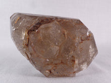 Akansobe Semi-Polished Hematite & Clay Included Skeletal Smoky Quartz - 82mm, 206g