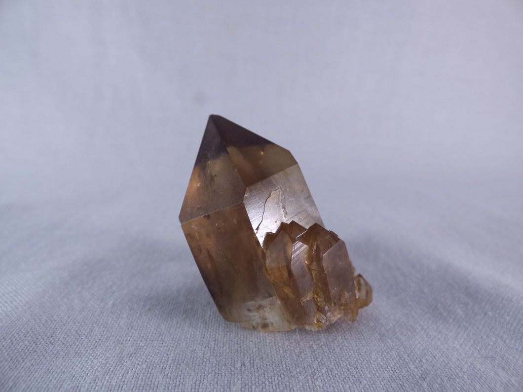 Natural Congo Dark Citrine Crystal Point - 38mm, 31g